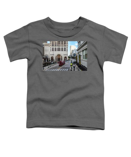 Cement Truck In The Itty-bitty-city Toddler T-Shirt
