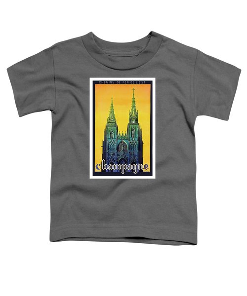 Champagne, Reims, Cathedral, France Toddler T-Shirt