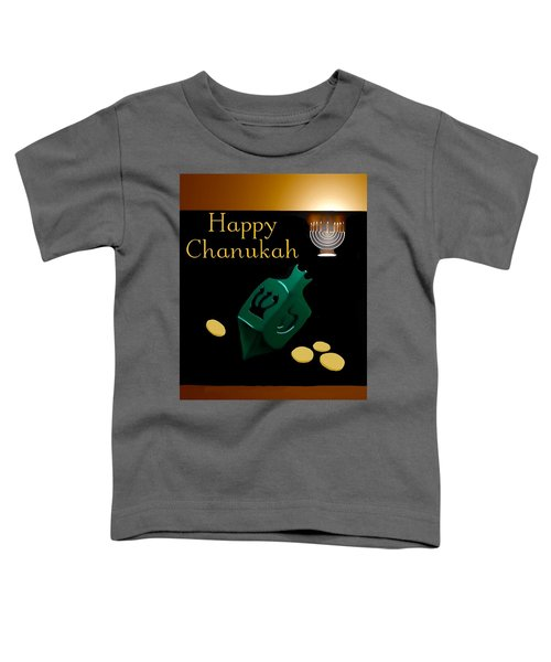 Toddler T-Shirt featuring the digital art Chanukah Greeting by Gerry Morgan