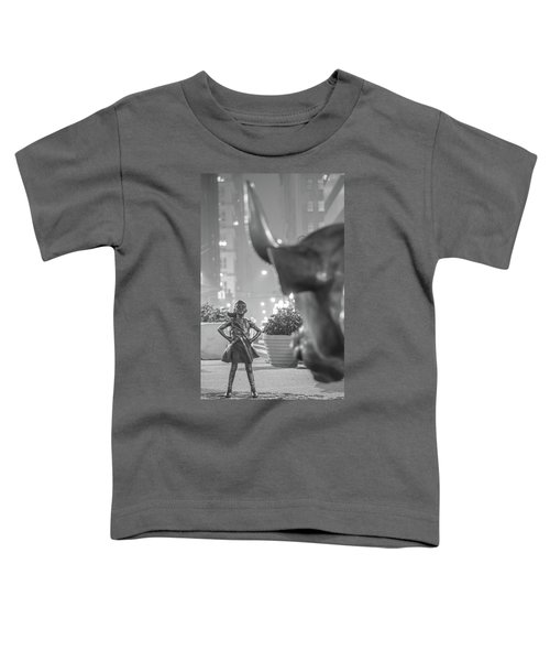 Charging Bull And Fearless Girl Nyc  Toddler T-Shirt