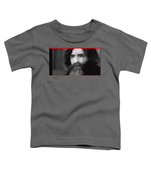Charles Manson Screen Capture Circa 1970-2015 Toddler T-Shirt
