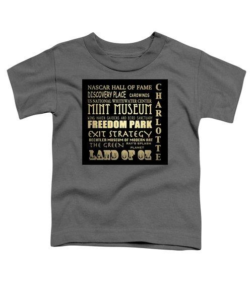 Charlotte North Carolina Famous Landmarks Toddler T-Shirt