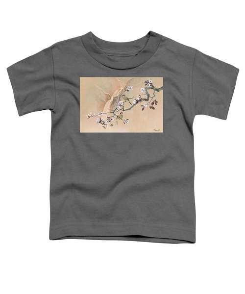 Cherry Blossom Tree And Two Birds Toddler T-Shirt