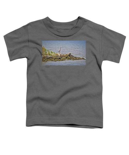 Chesapeake Bay Great Blue Heron Toddler T-Shirt