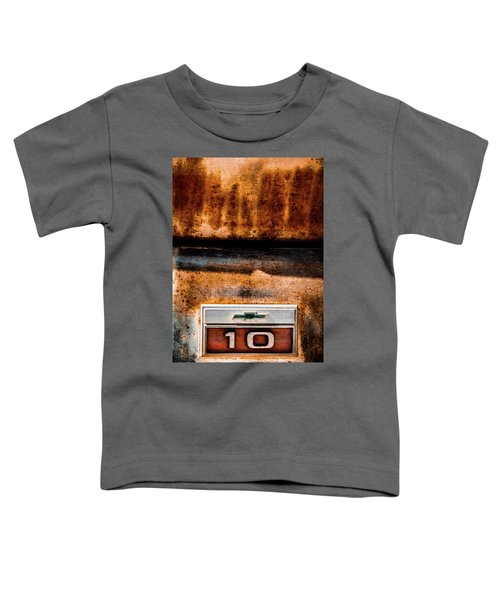 Chevy C10 Rusted Emblem Toddler T-Shirt