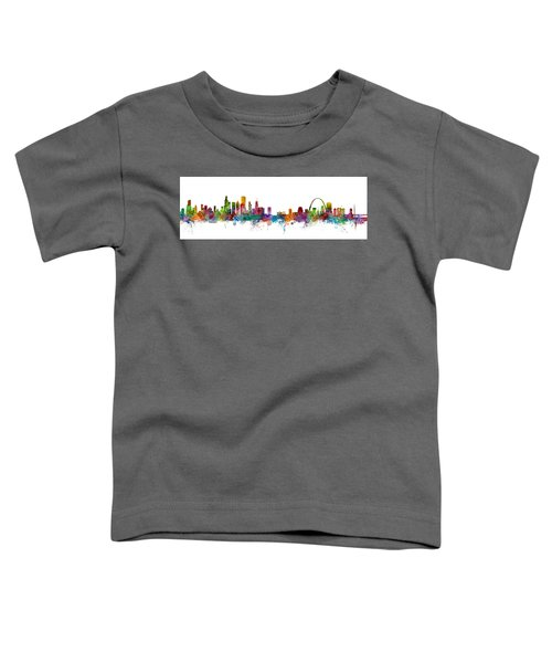 Chicago And St Louis Skyline Mashup Toddler T-Shirt
