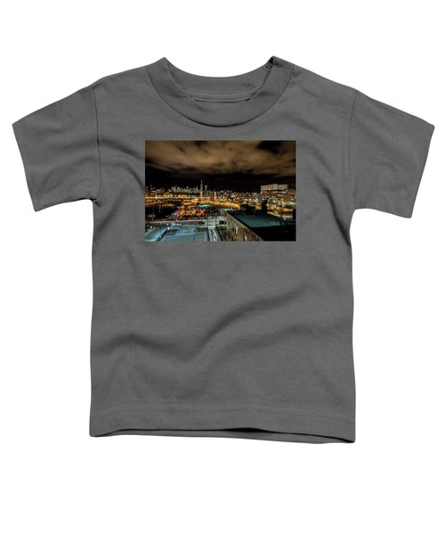 Chicago City And Skyline Toddler T-Shirt
