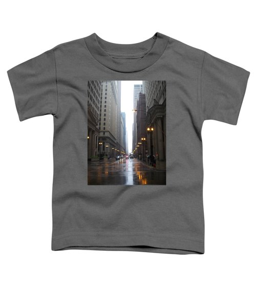 Chicago In The Rain 2 Toddler T-Shirt