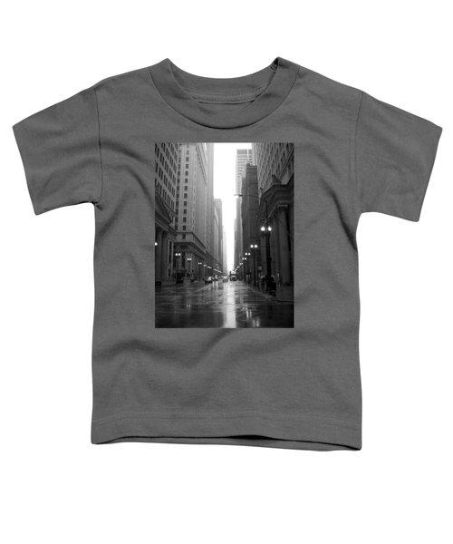 Chicago In The Rain 2 B-w Toddler T-Shirt