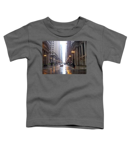 Chicago In The Rain Toddler T-Shirt