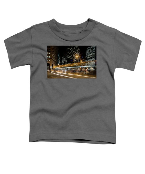 Chicago Nighttime Time Exposure Toddler T-Shirt