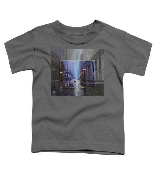 Chicago Rainy Street Expanded Toddler T-Shirt