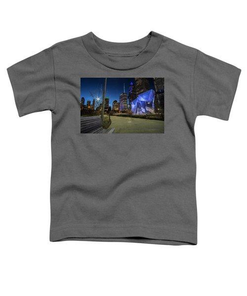 Chicago Skyline Form Maggie Daley Park At  Dusk Toddler T-Shirt