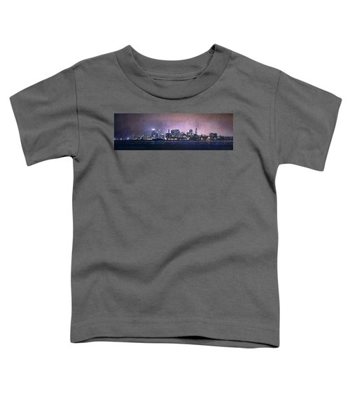Chicago Skyline From Evanston Toddler T-Shirt