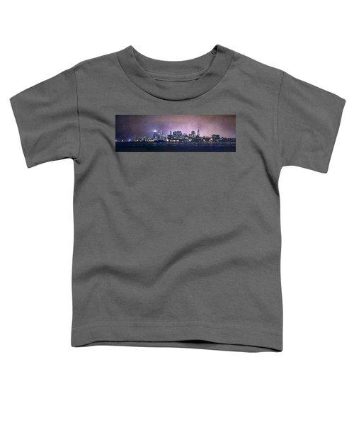 Chicago Skyline From Evanston Toddler T-Shirt by Scott Norris
