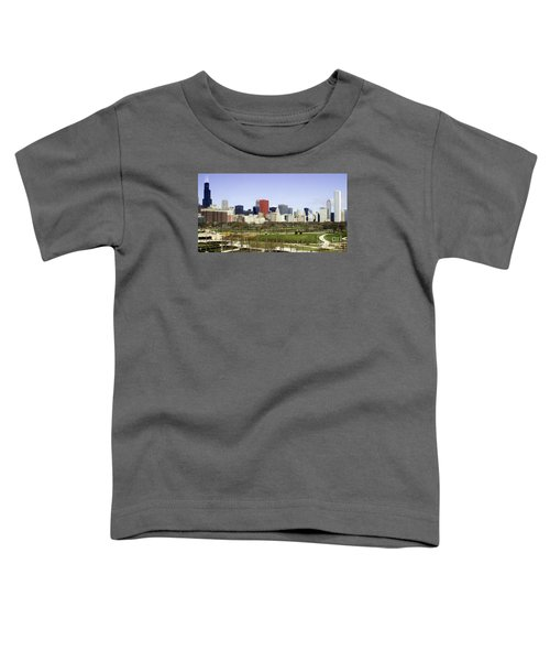 Chicago- The Windy City Toddler T-Shirt by Ricky L Jones