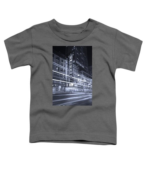 Chicago Theater Marquee B And W Toddler T-Shirt