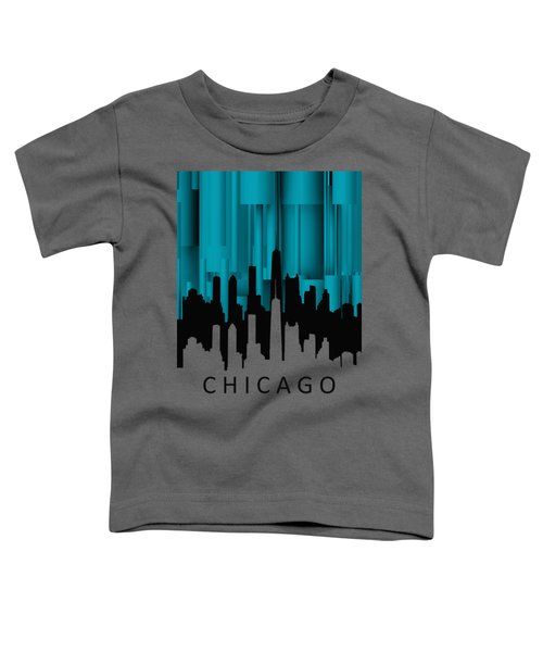 Chicago Turqoise Vertical Toddler T-Shirt by Alberto RuiZ