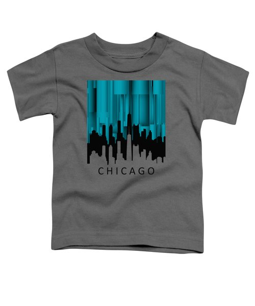 Chicago Turqoise Vertical Toddler T-Shirt