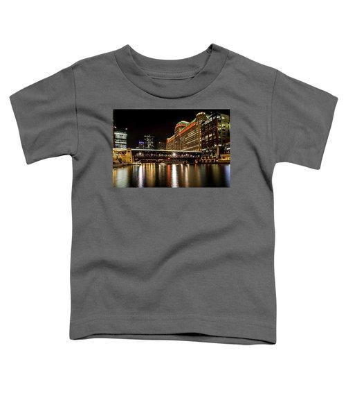 Chicago's Merchandise Mart At Night Toddler T-Shirt