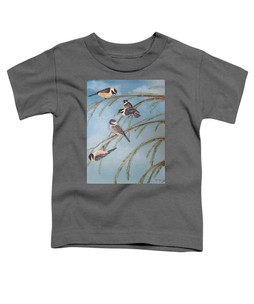 Chickadee Party Toddler T-Shirt