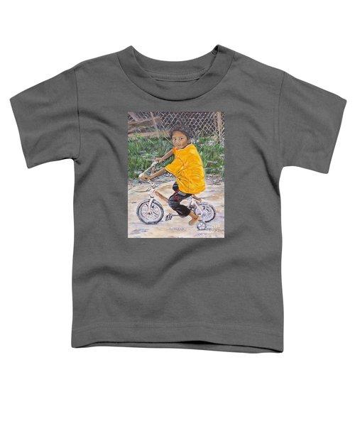 Chico Y Bicicleta Toddler T-Shirt