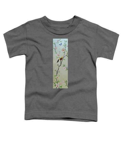 Chinoiserie - Magnolias And Birds #1 Toddler T-Shirt