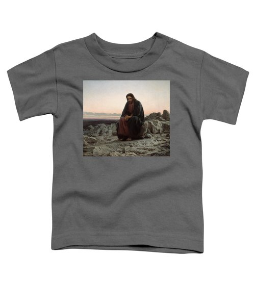 Toddler T-Shirt featuring the painting Christ In The Desert by Ivan Kramskoi