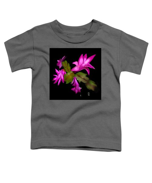 Toddler T-Shirt featuring the digital art Christmas Cactus by Gerry Morgan
