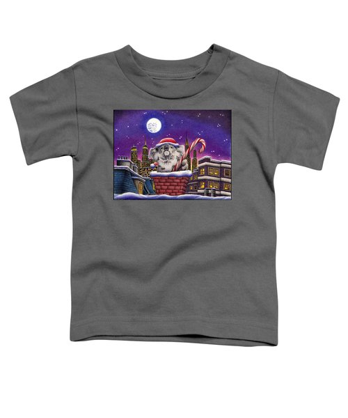 Christmas Koala In Chimney Toddler T-Shirt by Remrov