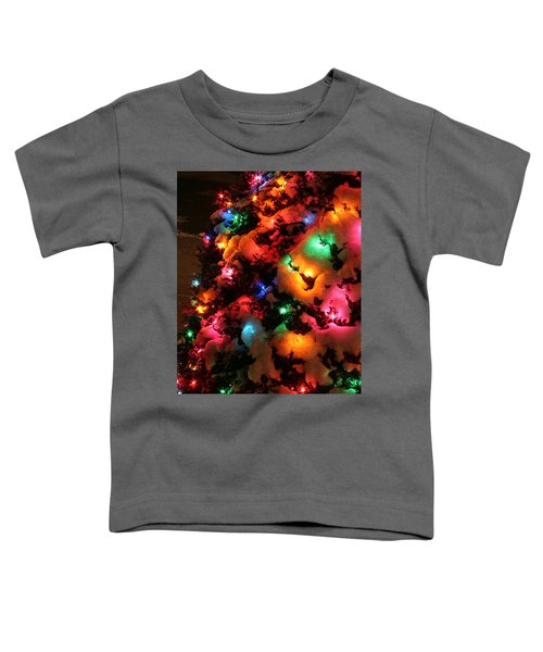 Christmas Lights Coldplay Toddler T-Shirt by Wayne Moran
