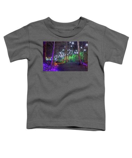 Christmas Lights Decoration Along Lafarge Lake Path Toddler T-Shirt