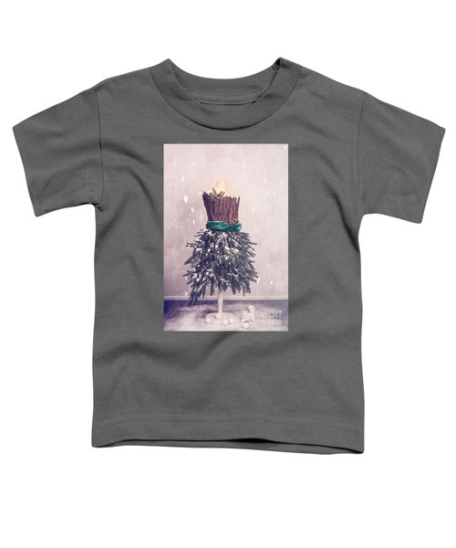 Christmas Mannequin Dressed In Fir Branches Toddler T-Shirt
