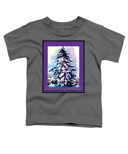 Toddler T-Shirt featuring the painting Christmas Tree by Susan Kinney