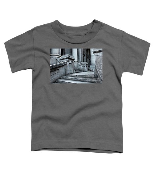 Toddler T-Shirt featuring the photograph Chrome Balustrade by Stephen Mitchell