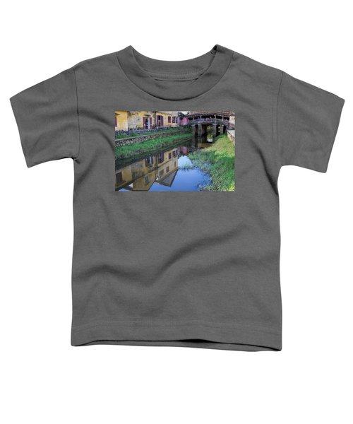 Toddler T-Shirt featuring the photograph Chua Cau Reflection by Hitendra SINKAR