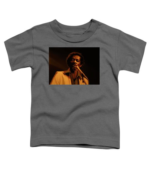 Chuck Berry Gold Toddler T-Shirt by Paul Meijering