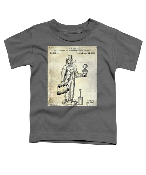 Cigar Lighter Patent 1886  Toddler T-Shirt