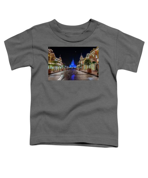 Cinderella Castle Glow Over Main Street Usa Toddler T-Shirt