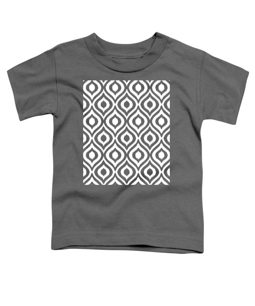 Circle And Oval Ikat In White T05-p0100 Toddler T-Shirt