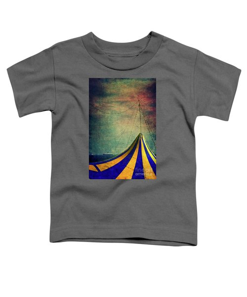 Circus With Distant Ships II Toddler T-Shirt by Silvia Ganora
