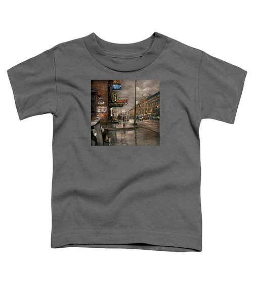City - Amsterdam Ny -  Call 666 For Taxi 1941 Toddler T-Shirt
