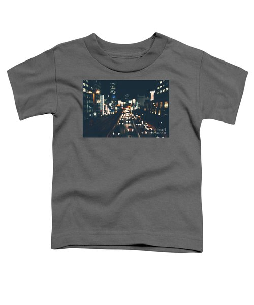 Toddler T-Shirt featuring the photograph City Lights by MGL Meiklejohn Graphics Licensing
