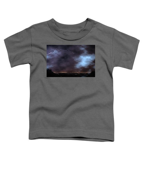 Toddler T-Shirt featuring the photograph City Lights Night Strike by James BO Insogna