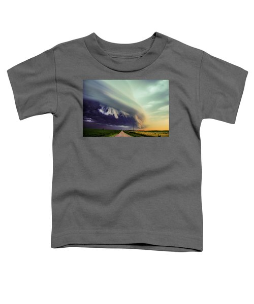 Classic Nebraska Shelf Cloud 024 Toddler T-Shirt