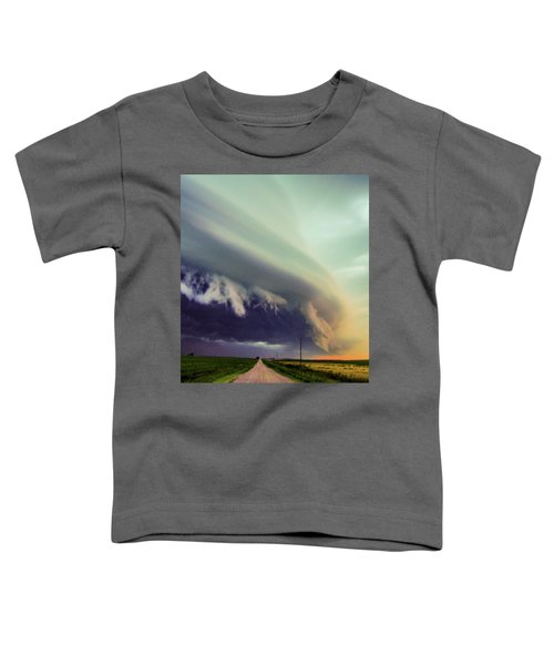Classic Nebraska Shelf Cloud 024 Toddler T-Shirt