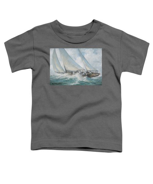 Classic Yacht  Twixt Wind And Water Toddler T-Shirt