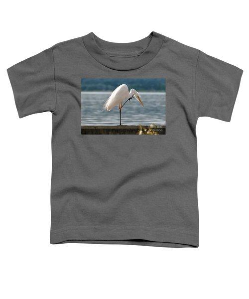Cleaning White Egret Toddler T-Shirt