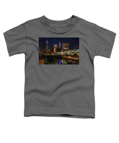 Cleveland Nightscape Toddler T-Shirt