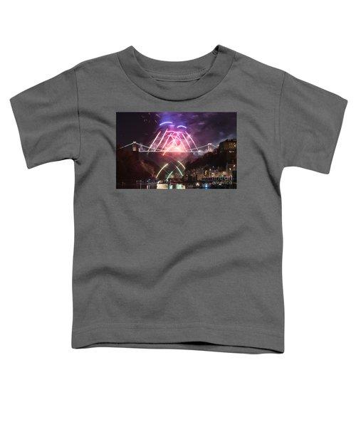 Clifton Suspension Bridge Fireworks Toddler T-Shirt